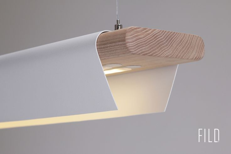 The fild. Design with wood and metal. Lamps