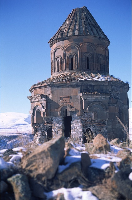 ANI RUINES: CHURCH OF ST GREGORY OF THE ABUGHAMRENTS • 10th c. • Armenian • Kars Province, Turkey
