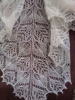 I'm knitting this shawl pattern out of silk