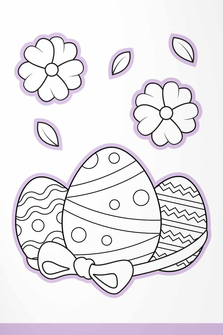 Easter Eggs Coloring Pages for Kids, Easter Kids Activity