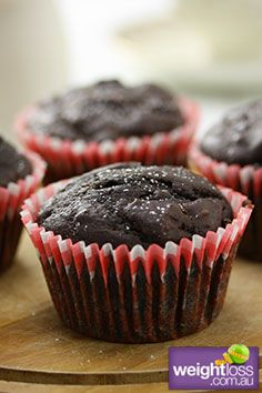 Healthy Muffins Recipes: Banana Choc Muffins Recipe. #HealthyRecipes #DietRecipes #WeightlossRecipes weightloss.com.au