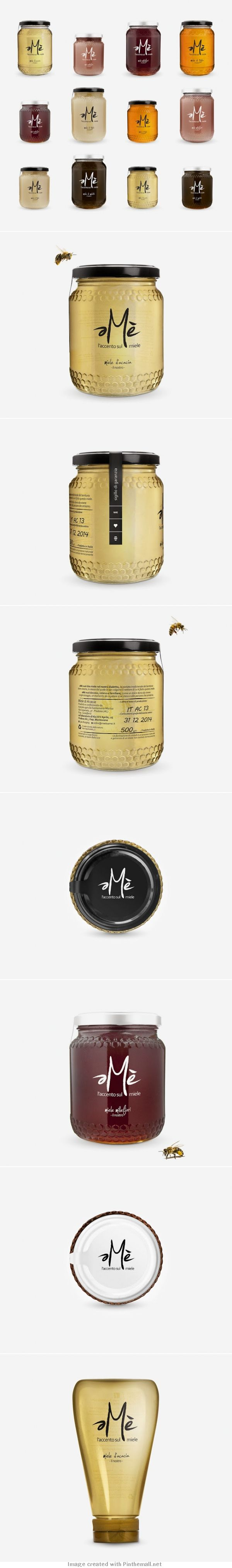 Agency: LC  Designer: Luca Calizzano Client: Amè Miele Country: Italy. beautiful #honey #packaging PD