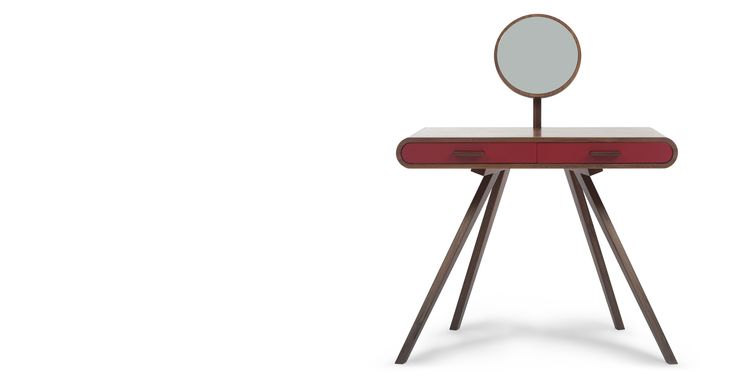 #lets colour love this! Fonteyn Dressing Table, Walnut and Red