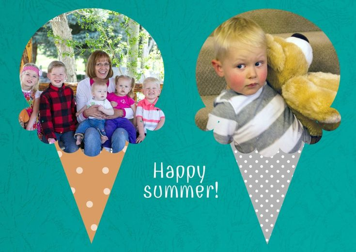 What better way to display summer photos than in an ice cream photo collage! Click to learn how to make it.