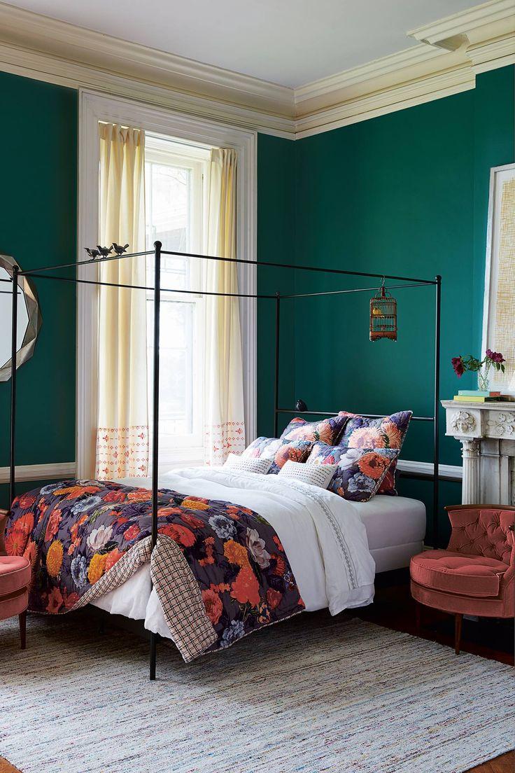 agneta quilt anthropologie love the jewel tones in this gorgeous bohemian bedroom