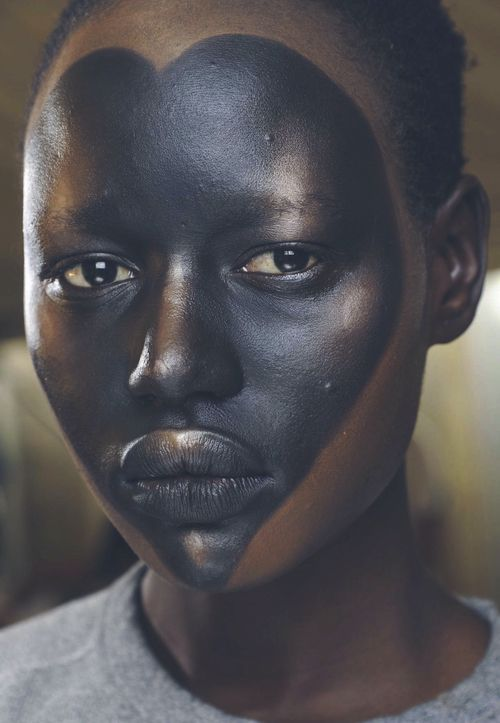 Ajak Deng backstage for Vivienne Westwood S/S 2013