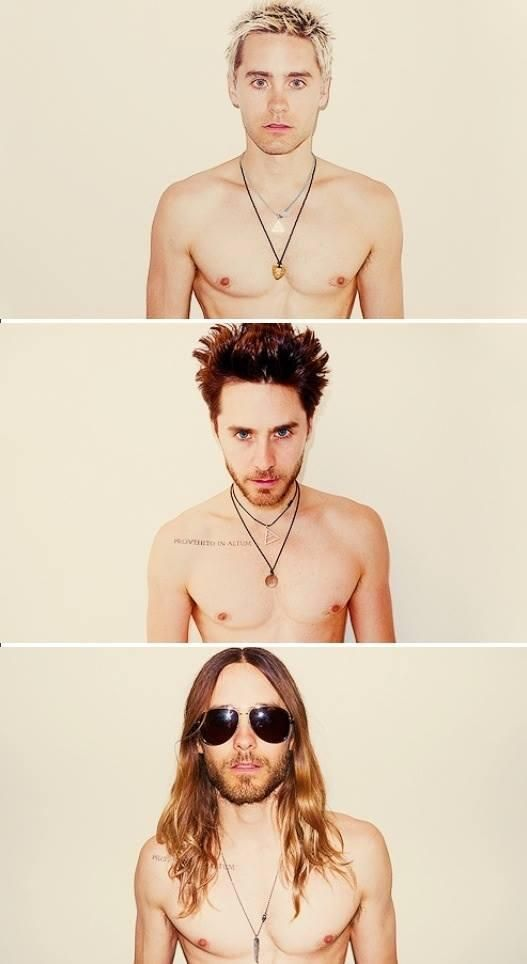 Jared Leto. Tbh don't like the way he looks muh with his long hair and beard but I stil love him cx