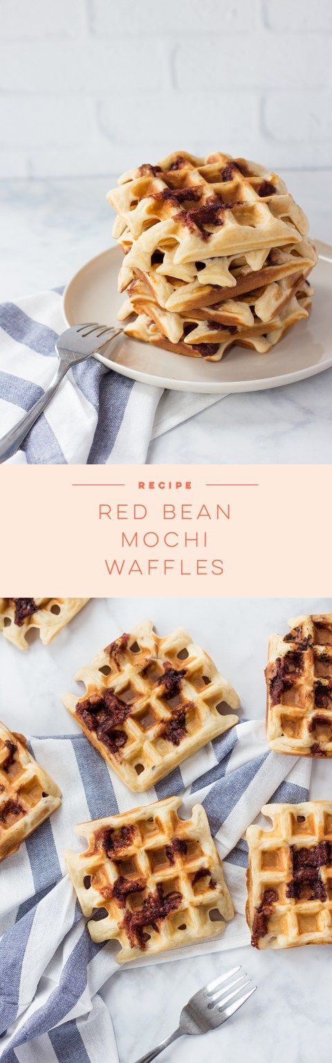 These Red Bean Mochi Waffles are similar in taste and texture to taiyaki or bungeoppang. They're the perfect snack for mornings on the go!