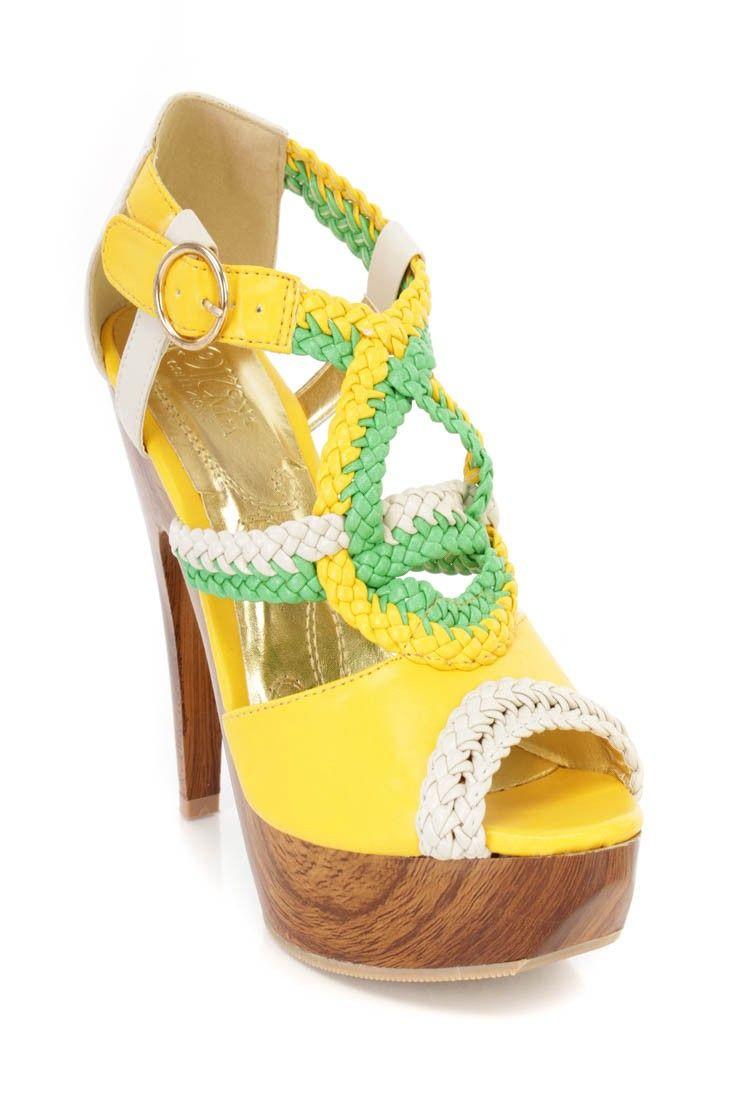 Yellow Green Heels