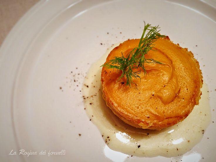 sformato di zucca con crema di parmigiano