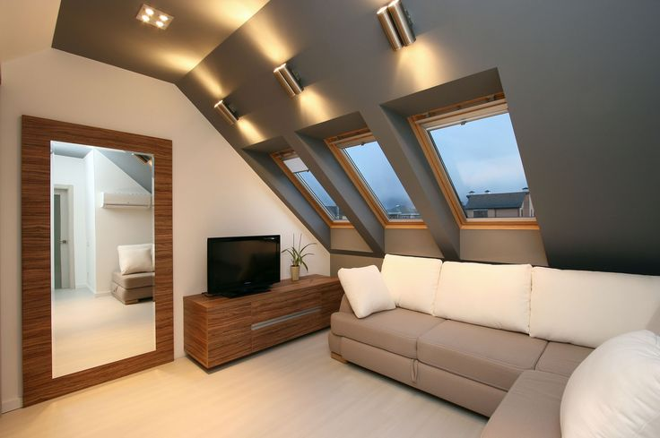 fantastic way of using  tupe walllights for sloped ceilings