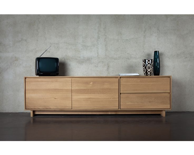 Ethnicraft© - Products » Entertainment »Oak Wave TV cupboard