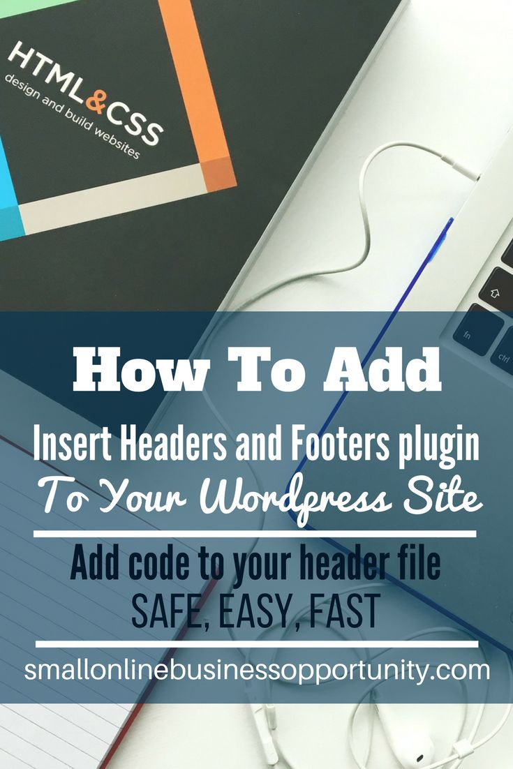 How To Add Insert Headers and Footers Plugin To WordPress  Adding code to your Wordpress header file need not be hard, you can just add this nifty little plugin and add code to your header fast, easy and safely.     #wordpress #addingheadercode #headerfile #plugins