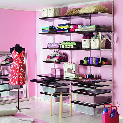 Best Selling Elfa Craft Room Solution With Solid Shelves