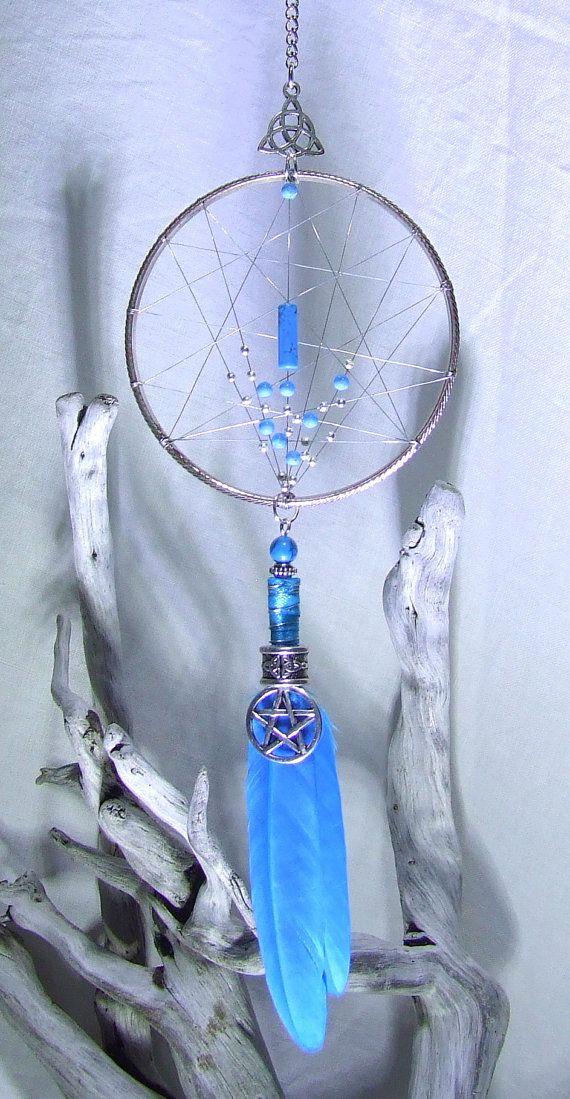 VENTE 20 % de réduction Wiccan Dream Catcher mural argent pentagramme…