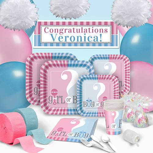 Top 25 best gender reveal party supplies ideas on for Baby shower decoration packs