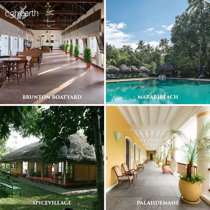 Luxury hotels and resorts in South India by CGH Earth
