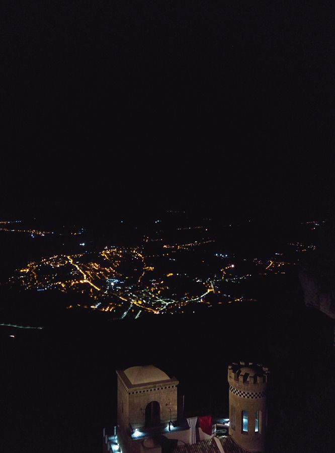 Chiara Magi - Sicilian Vibes - The castle in Erice and the view over Trapani at night