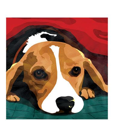 Love this Beagle Canvas Wall Art on #zulily! #zulilyfinds