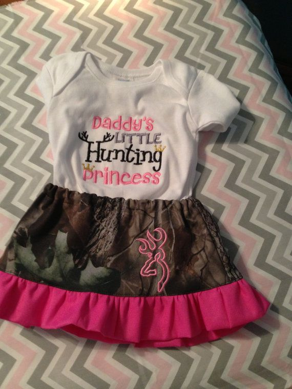 Hunting Princess Skirt and Shirt size new born up by CruzsDesigns, $34.50