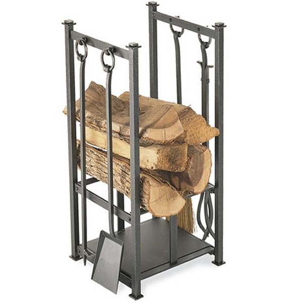 Craftsman Indoor Firewood Rack - Vintage Iron #LearnShopEnjoy