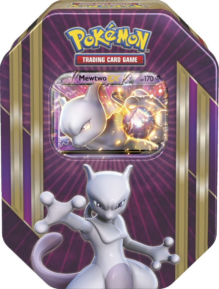 Pokemon TCG Triple Power Tin - Mewtwo EX - Pokemon Sealed Products ...
