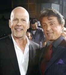 stallone kicks off Willis Expendables 3