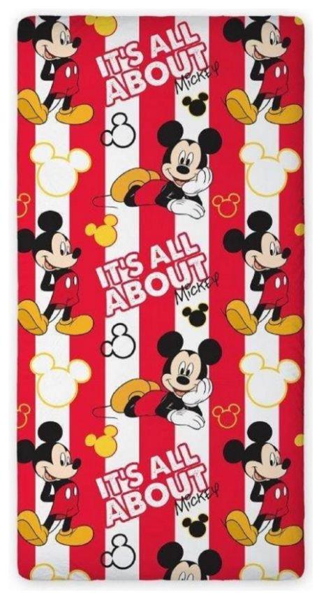 Σεντονι Disney Mickey, Μίκυ Μαους Παιδικο για Μονο Κρεβατι Βαμβακερο