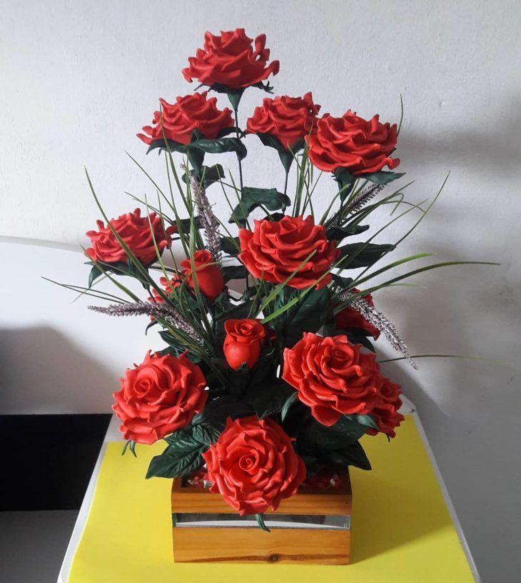Flores De Eva 80 Modelos Incriveis E Videos Passo A Passo Diy