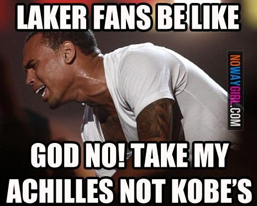 Funny Memes: Since Kobe Got Injured Laker Fans Be Like - NoWayGirl