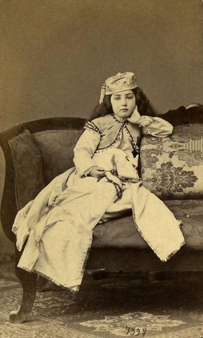 Young harem girl (Circassian) by Abdullah Frères