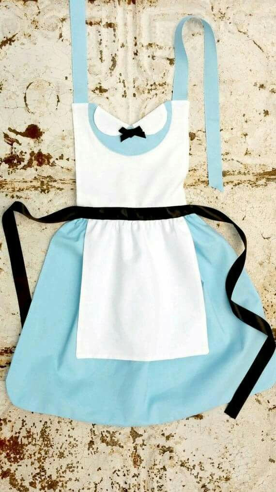 Alice in wonderland disney apron