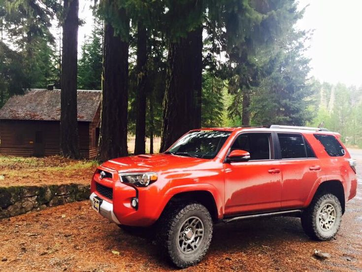 Barcelona Red Toyota 4Runner with TRD Wheels