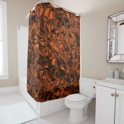 orange and brown shower curtain. Aluminum Foil Design in Orange Shower Curtain  Halloween happyhalloween festival party holiday Best 25 shower curtains ideas on Pinterest
