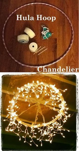 Formal Barn Party DIY Hoola Hoop chandlier                                                                                                                                                                                 More