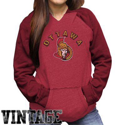 Original Retro Brand Ottawa Senators Ladies Relaxed Pullover Hoodie - Red