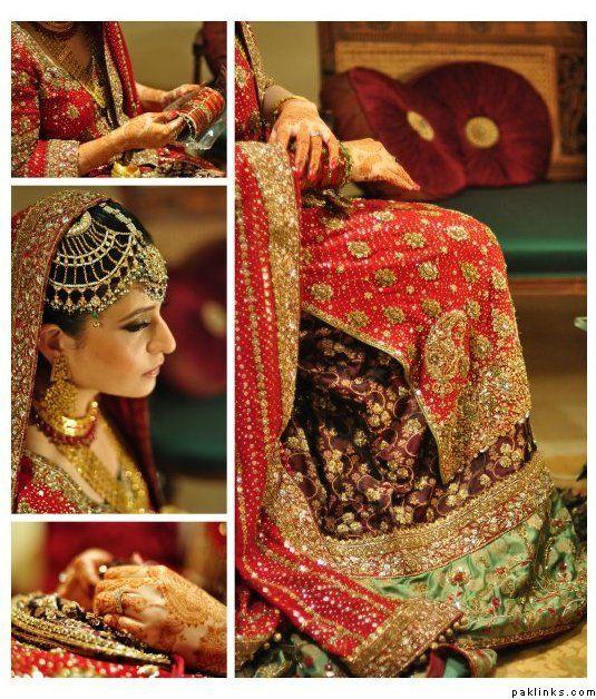 beautifully embroidered wedding dress Bunto kazmi perhaps  paklinks.com