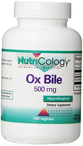 Nutricology Ox Bile, 500 mg,  100 Vegetarian Capsules //Price: $14.59 & FREE Shipping //     #hashtag2