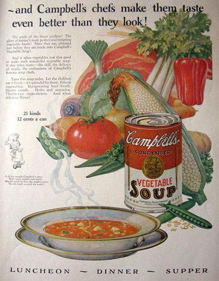 vintage food ads | vintage food ads other 1925 campbell s vegetable soup ad