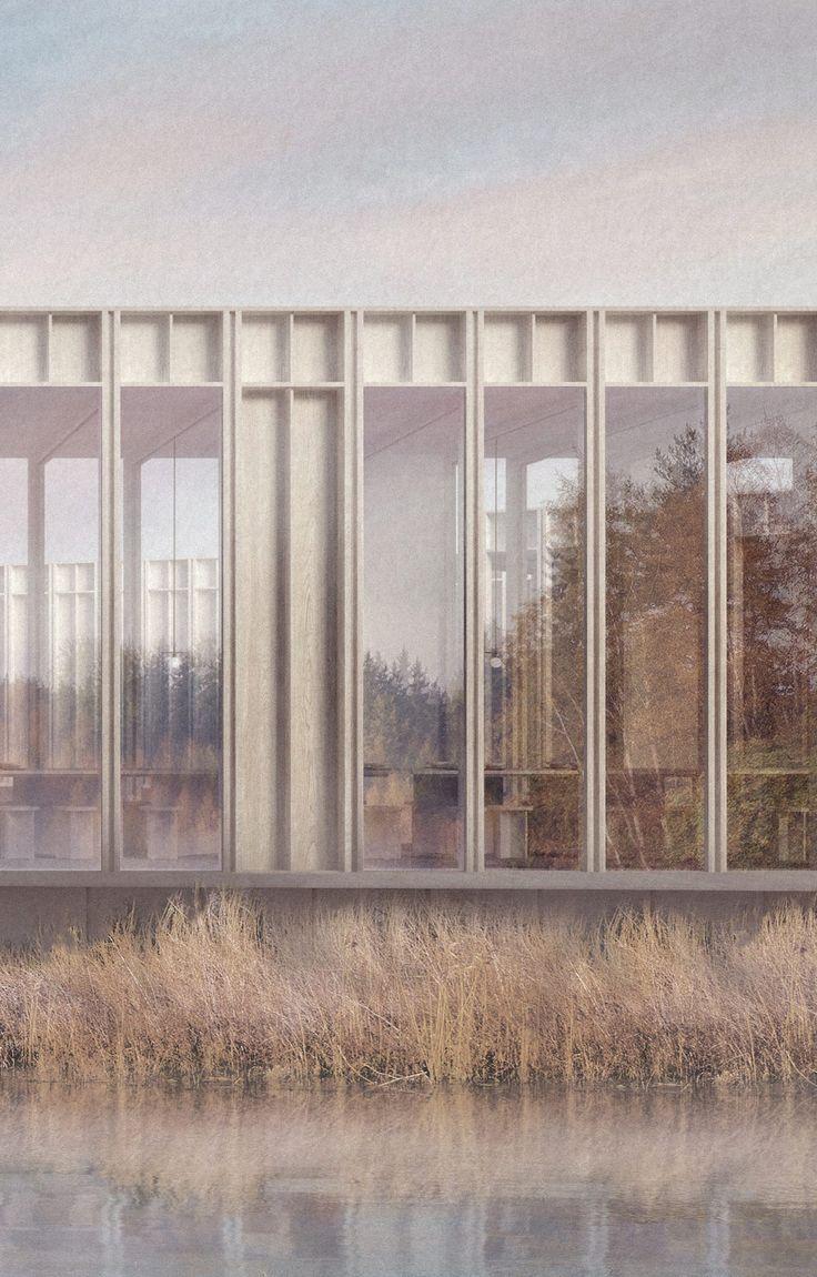Kent Wildlife Center Render Detail – Architektur f…