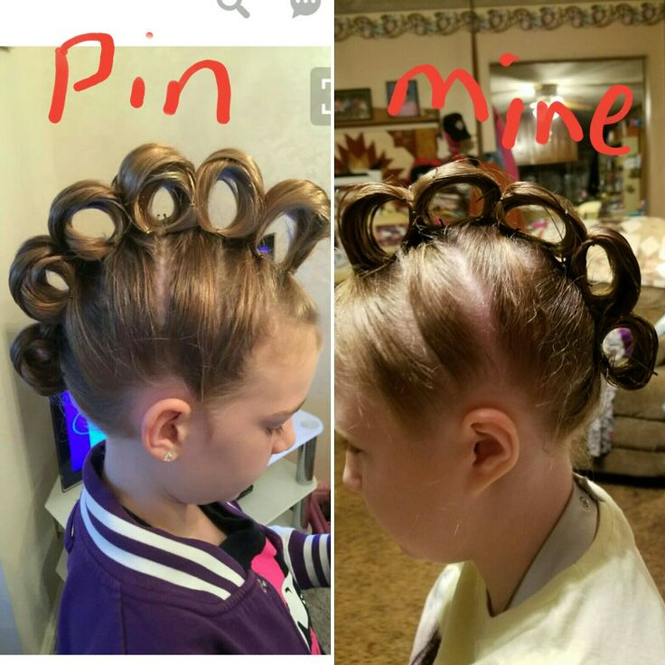 saw this hair do and tried it on my daughter for wacky tacky day!