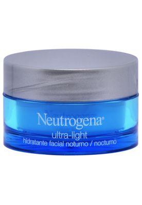 Creme Anti-idade Neutrogena Ultra Light Noite, combina hidratação e renovação celular. Com rápida absorção, sua ação é suave e progressiva, agindo nas primeiras linhas de expressão para deixar sua pele com uma aparência mais jovem R$43