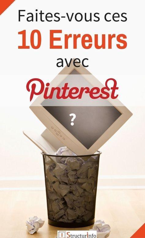 Vous souhaitez faire connaitre votre site ou votre blog ? Découvrez les 10 erreurs principales que la plupart font en marketant sur Pinterest. Repartez sur de bonnes bases ! | Conseils Pinterest | Pinterest Tips | Créer son blog | Trafic Blog