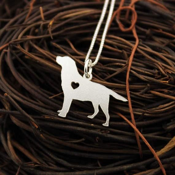 Labrador necklace Personalized Engraveable sterling silver Labrador Retriever pendant With Heart - Dog Breed Jewelry Best Memorial Pet Gift