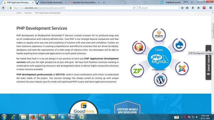 PHP Application Development | PHP Development Services