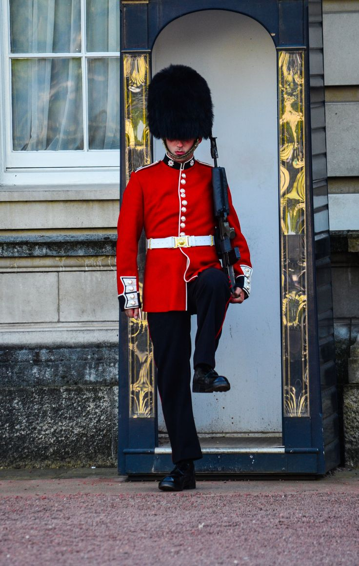 Guarding the Queen at Buckingham Palace, London, England