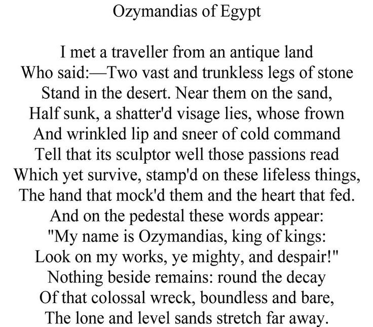 25+ best ideas about Ozymandias poem on Pinterest   Poem analysis ...