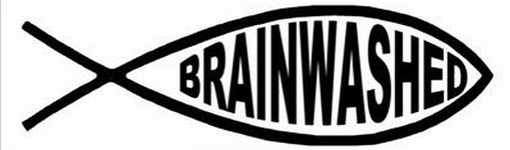Atheism, Religion, God is Imaginary, Symbol, Ichthys. Brainwashed.
