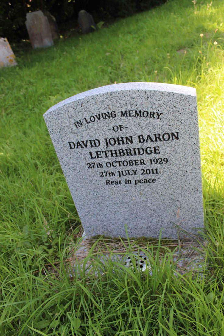In loving memory of David John Baron Lethbridge. 27th October 1929 - 27th July 2011. Rest in peace.