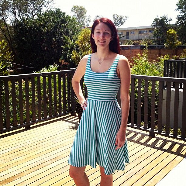 #frocktober day 21: sunday study stripes. I'm fundraising for ovarian cancer research, please donate for a truly worthy cause!